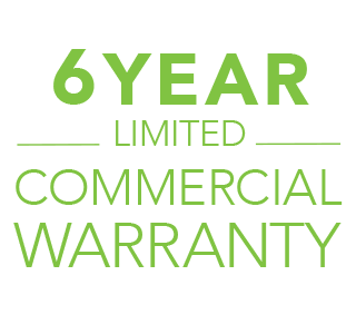 6 Year Limited Commercial Warranty